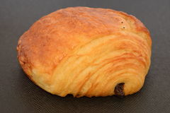 Fresh chocolate croissant. Fresh chocolate croissant on a black background Stock Image