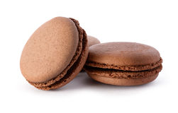 Fresh chocolate macarons Royalty Free Stock Images