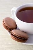 Fresh chocolate macarons Royalty Free Stock Photo