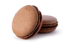 Fresh chocolate macarons Royalty Free Stock Image