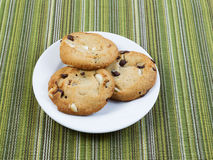Fresh Chocolate and nut cookies ready to Eat Royalty Free Stock Image