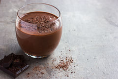 Fresh chocolate smoothie in glass Royalty Free Stock Photography