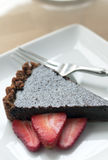 Fresh Chocolate Tart Royalty Free Stock Photo