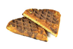 Fresh chocolate waffles Royalty Free Stock Image