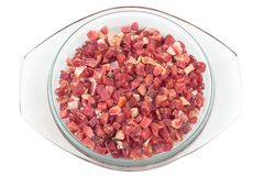Fresh chopped bacon Royalty Free Stock Photography