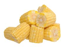 Fresh chopped corn Stock Images