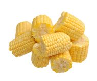 Fresh chopped corn Royalty Free Stock Images