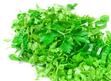 Fresh chopped greens Royalty Free Stock Photography