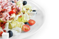 Fresh chopped ham salad Stock Images
