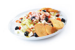 Fresh chopped ham salad Royalty Free Stock Photo