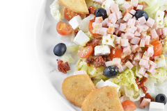 Fresh chopped ham salad Royalty Free Stock Photography