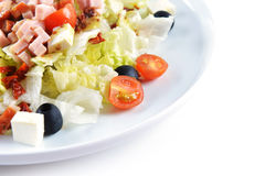 Fresh chopped ham salad Royalty Free Stock Images