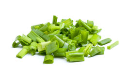 Fresh Chopped Leek Royalty Free Stock Photo