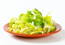 Fresh chopped leek Stock Image