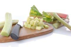 Fresh chopped rhubarb Royalty Free Stock Photo
