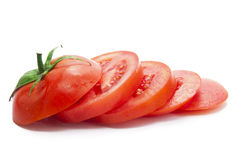 A Fresh Chopped Tomato stock photography