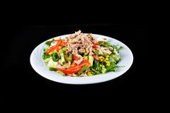 Fresh chopped tuna salad Royalty Free Stock Photos