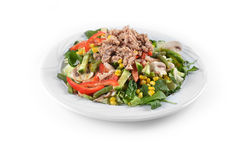 Fresh chopped tuna salad Stock Photography