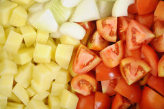 Fresh chopped vegetables Stock Images