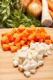 Fresh chopped vegetables Stock Photo
