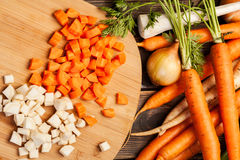 Fresh chopped vegetables Stock Photography