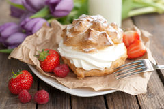 Fresh choux pastry Stock Images