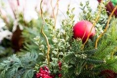 Fresh Christmas arrangement royalty free stock image