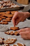 Fresh christmas cookies preparation. Stock Photo
