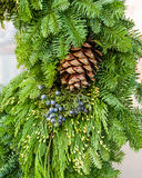 Fresh Christmas decorations with greens Royalty Free Stock Images