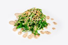 Fresh chuka seaweed salad isolated on white. Japanese cuisine. Fresh chuka seaweed salad isolated on white. Japanese cuisine royalty free stock image