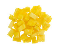 Fresh chunks of pineapple on a white background Stock Image