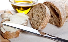Fresh ciabatta bread Stock Images
