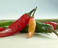 Fresh Cilis. Fresh chilis with lemon grass Stock Image