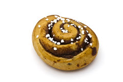 Fresh cinnamon bun Royalty Free Stock Photo