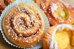 Fresh Cinnamon Buns Royalty Free Stock Photos