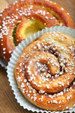 Fresh Cinnamon Buns Royalty Free Stock Photo
