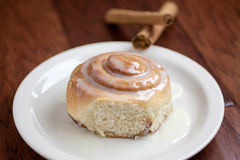Fresh Cinnamon Roll Stock Photo