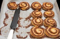 Fresh Cinnamon Rolls. Fresh Sweet Cinnamon Rolls Dough in Casserole Royalty Free Stock Photography