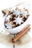 Fresh cinnamon star cookies stock photography