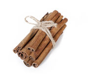 Fresh cinnamon on white background Stock Images