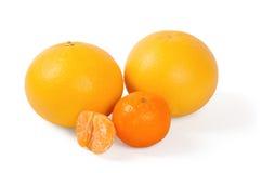 Fresh citrus. Fruit on a white background Royalty Free Stock Image