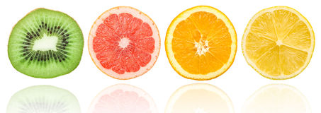 Fresh Citrus Fruit Slices Royalty Free Stock Photo