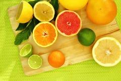 Fresh citrus fruit Stock Photos