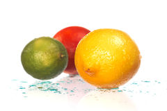 Fresh citrus fruits Stock Photos