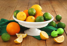 Fresh citrus fruits Stock Images