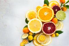 Fresh citrus fruits royalty free stock photography