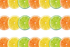 Fresh citrus fruits background Stock Photo