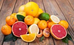 Fresh citrus fruits Stock Image