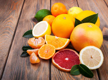 Fresh citrus fruits Stock Photo