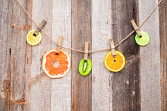 Fresh Citrus Fruits. Pieces Fruits. Stock Photography
